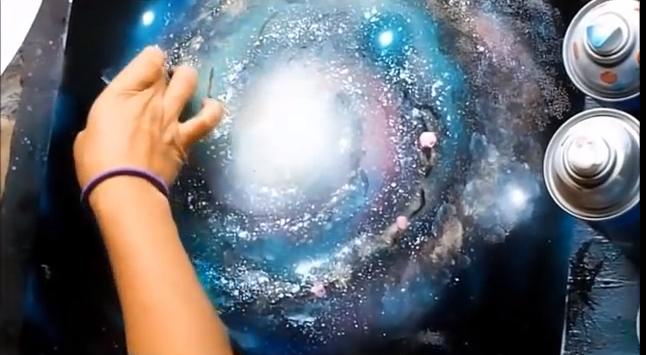 paloma galaxy spray paint art secrets