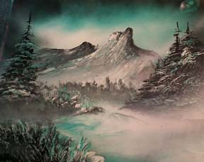 spray paint art secrets blue pines